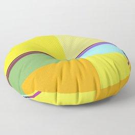 CASUAL YELLOW GEOMETRIC Floor Pillow