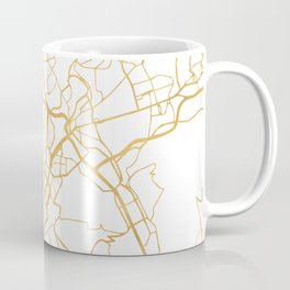 STUTTGART GERMANY CITY STREET MAP ART Coffee Mug