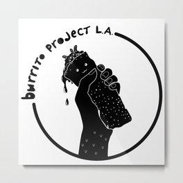 Burrito Project L.A. (white logo) Metal Print