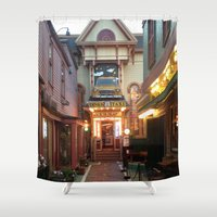 maine Shower Curtains featuring Maine by Christina Hand