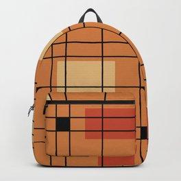 1950's Abstract Art Burnt Orange Backpack