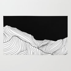 Lines in the mountains - b&w Rug