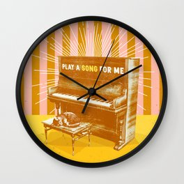 PLAY A SONG FOR ME Wall Clock
