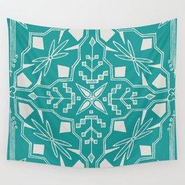 Turquoise Batik Wall Tapestry