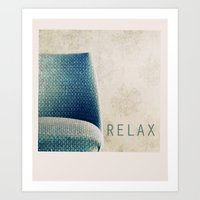 relax Art Prints featuring Relax by Claudia Drossert