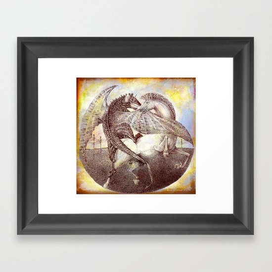 Fight. Framed Art Print