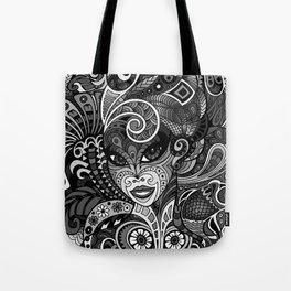 Dame Doodle v3 (grey) Tote Bag