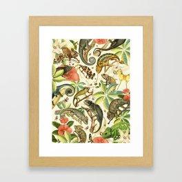 Chameleon Party Framed Art Print