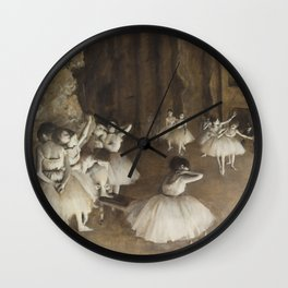 Ballet Rehearsal on Stage Wall Clock