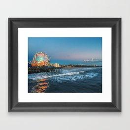 Wheel of Fortune - Santa Monica, California Framed Art Print