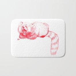Red Panda Yawning Bath Mat