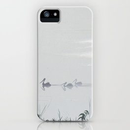 Misty Morning on the Clarence (1994) iPhone Case