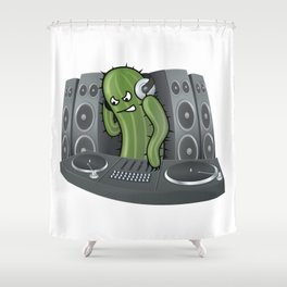 Sound Cactus Shower Curtain