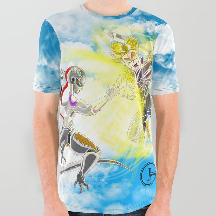 Trunks Finishes Frieza All Over Graphic Tee