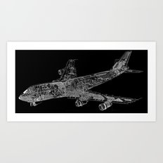 Boing 747 Art Print