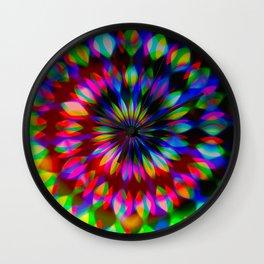 Psychedelic Rainbow Swirl Wall Clock