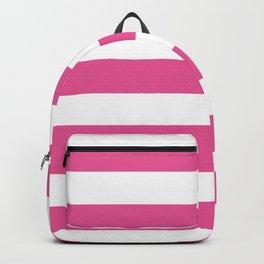 Barbie Pink (1959-1975) - solid color - white stripes pattern Backpack