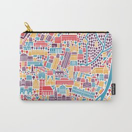 Munich City Map Poster Carry-All Pouch