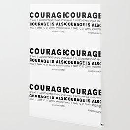 Courage quote - Winston Churchill Wallpaper
