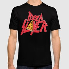 Pizza Slayer Black X-LARGE Mens Fitted Tee