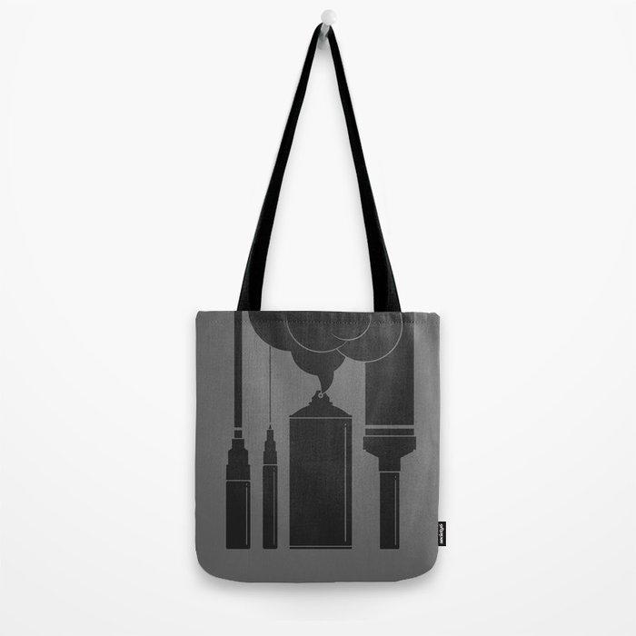 Art Supplies Grey Tote Bag