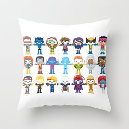 90's 'X-men' Robotics Throw Pillow