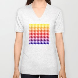 Houndstooth Sundown Unisex V-Neck