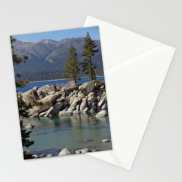 Two Shades of Blue at Lake Tahoe Stationery Cards