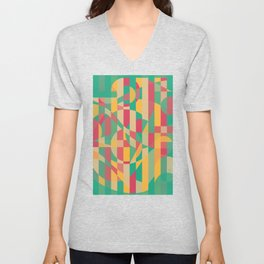 Abstract Graphic Art - Contemporary Music Unisex V-Neck