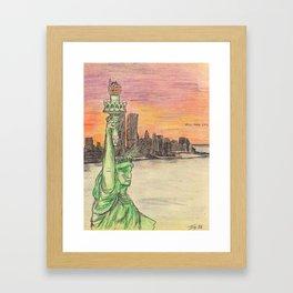 "SOULANAUTS:  ""THE STATUE OF LIBERTY"" Framed Art Print"