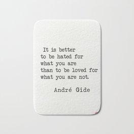 André Gide quote Bath Mat