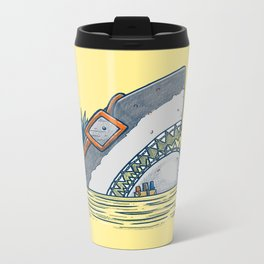 The Nerd Shark Metal Travel Mug