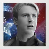 steve rogers Canvas Prints featuring Steve Rogers by Caim Thomas