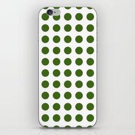Simply Polka Dots in Jungle Green iPhone Skin