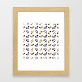 Wiggily Cartoon Colourful Caterpillars 2 Framed Art Print