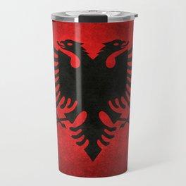 "National flag of Albania - in ""Super Grunge"" Travel Mug"