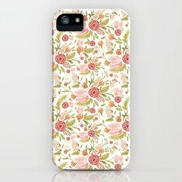 Pink Floral Medley iPhone Case