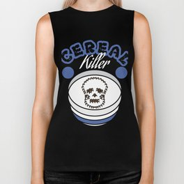 """""""Cereal killer"""" tee design. Perfect gift this seasons of giving for your family and friends! Biker Tank"""