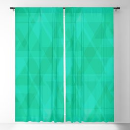 Bright marine triangles in intersection and overlay. Blackout Curtain