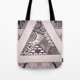 Triangle Sharpie Tote Bag