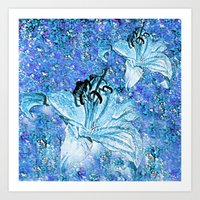 lily Art Prints featuring Lily  by Saundra Myles