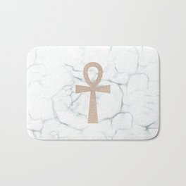 White Marble Ankh + Donation to the American Cancer Society Bath Mat