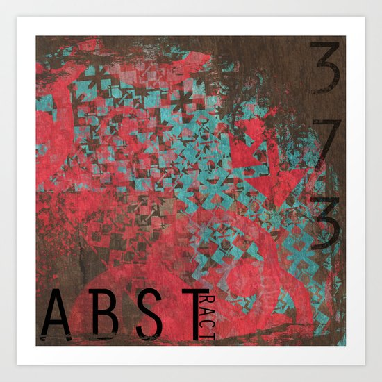 ABSTract 373. Art Print