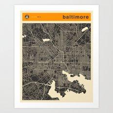 BALTIMORE Art Print