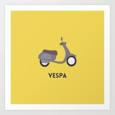 I love Vespa Art Print