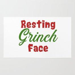 Resting Grinch Face - Christmas Xmas festive design Rug