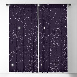 Universe with planets and stars seamless pattern, cosmos starry night sky 005 Blackout Curtain