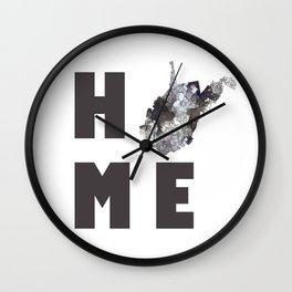 "West Virginia ""HOME"" Wall Clock"