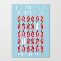 catcher in the rye Canvas Prints featuring The Catcher in the Rye by BaconFactory