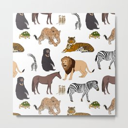 Wild Animals (original) Metal Print